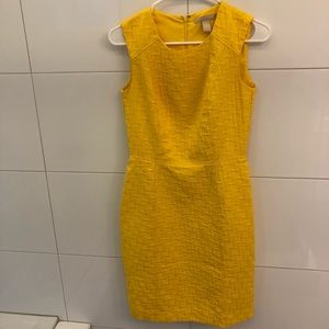 NWOT Banana Republic Yellow Sheath Dress - Size 0